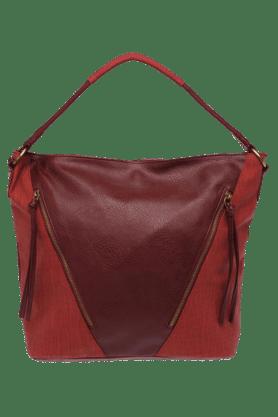 STOPWomens Blue Diagonal Zipper Handbag