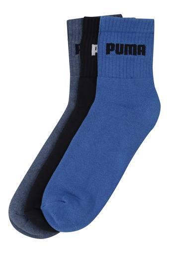 Unisex Solid and Slub Socks - Pack of 3