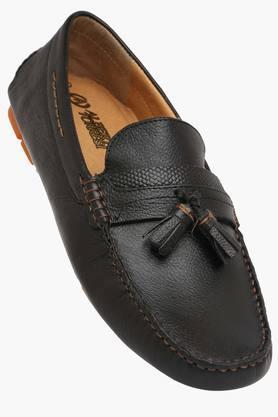 ALBERTO TORRESI Mens Leather Slip On Moccasins  ...