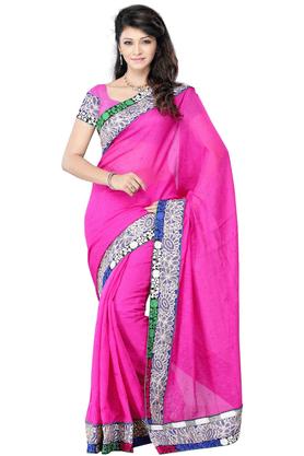 DEMARCADe Marca Pink Art Silk Designer DF-431B Saree
