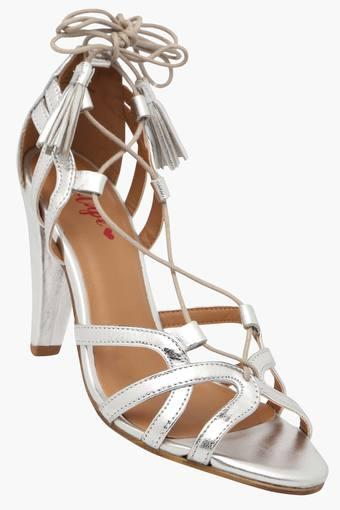 Womens Party Wear Lace Up Closure Heels