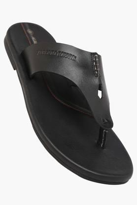 ALBERTO TORRESI Mens Leather Slip On Casual Slippers  ...