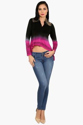 Womens Slim Fit Printed Top