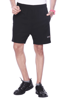 BLACK PANTHER Mens Flat Front Regular Fit Solid Shorts