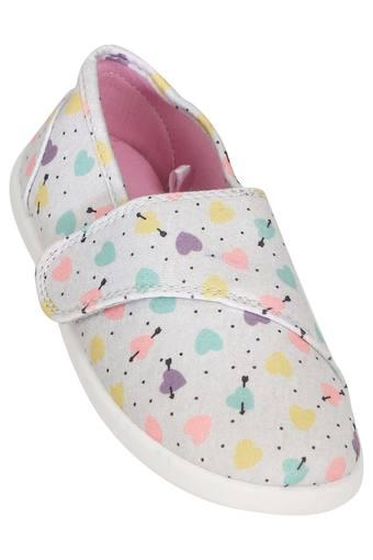 Girls Casual Wear Velcro Closure Sneakers