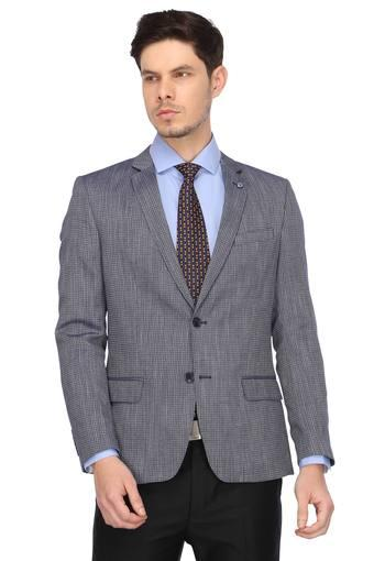 Mens Notched Lapel Checked Blazer