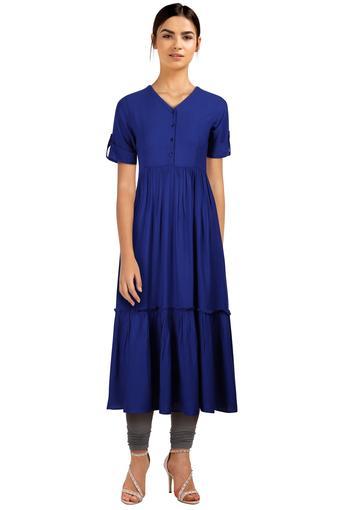 FRATINI WOMAN -  BlueDresses - Main