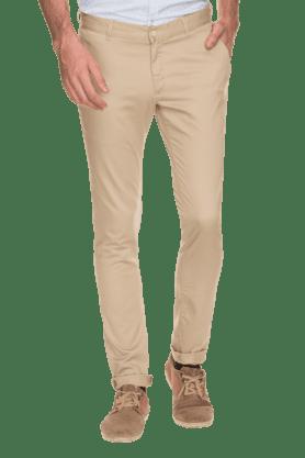BLACKBERRYSMens Slim Fit Solid Chinos - 200889327