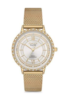 Womens Sparkle White Dial Alloy Analogue Watch - FA9-SPM02G61I