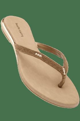 HAUTE CURRYWomens Fancy Slipon Flat Sandal