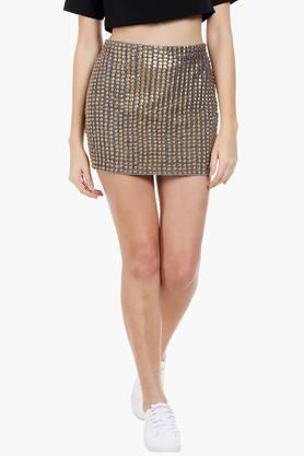 LOVE GENRATION Womens Embellished Short Skirt