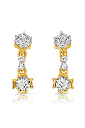 MAHI Mahi Gold Plated Euphoria Earrings With Crystals For Women ER1191742G