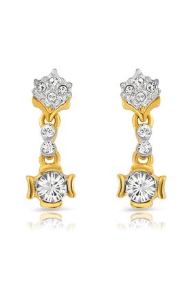 MAHIMahi Gold Plated Euphoria Earrings With Crystals For Women ER1191742G