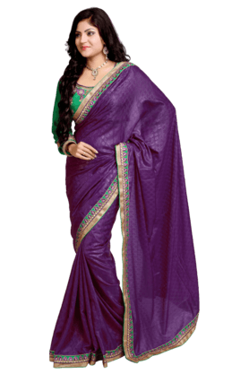 DEMARCA Women Georgette Saree