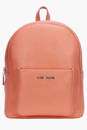 PHIVE RIVERSWomens Leather Zipper Closure Backpack