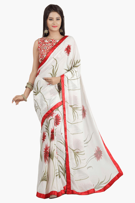 JASHN Womens Printed Saree - 201502545