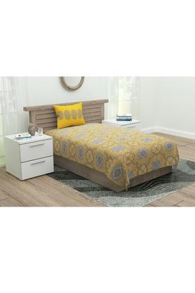 Printed Single Flat Bed Sheet with 1 Pillow Cover
