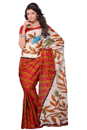 DEMARCA De Marca Multicolor Art Silk Designer DF-286A Saree
