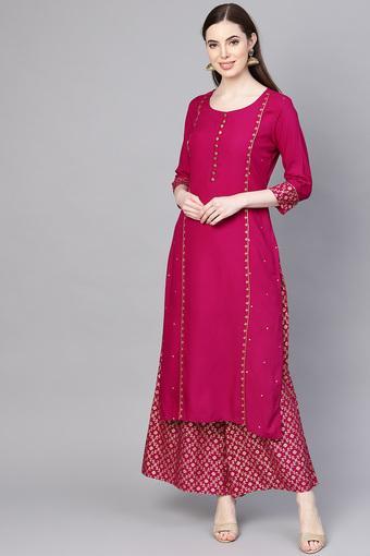 VARANGA -  FuchsiaSalwar & Churidar Suits - Main