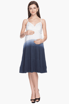 NINE MATERNITY Womens Comfort Fit Colour Block Dress