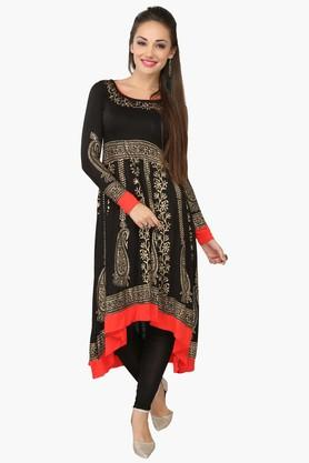 Womens Printed Anarkali Kurta