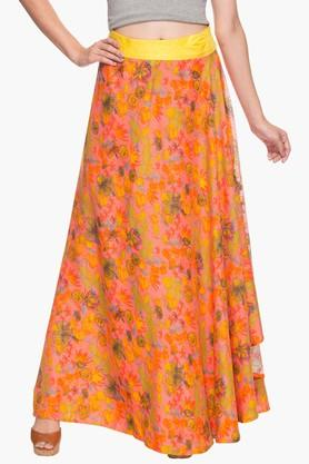 HAUTE CURRY Womens Printed Long Skirt