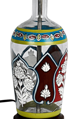 Indi Glass Painted Lamp