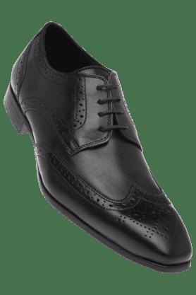 RUOSHMens Black Leather Smart Formal Shoe
