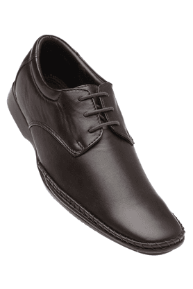FRANCO LEONE Mens Brown Formal Leather Lace Up Shoes
