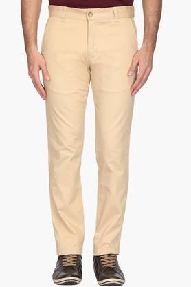 Mens Tapered Fit 4 Pocket Solid Chinos - 202134139