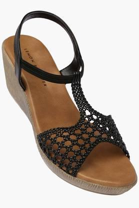LEMON & PEPPER Womens Daily Wear Slipon Wedge Sandal - 201949900