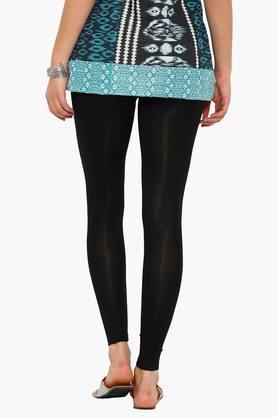Womens Solid Ankle Length Leggings
