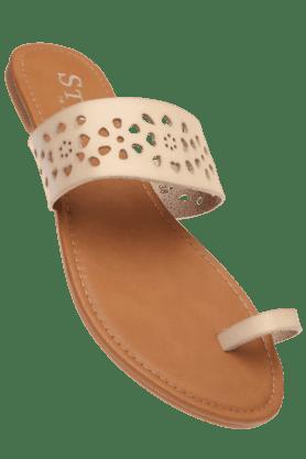 STOPWomens Beige Shiro Classic Flat Sandal