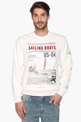 STOPMens Printed Round Neck Sweatshirt