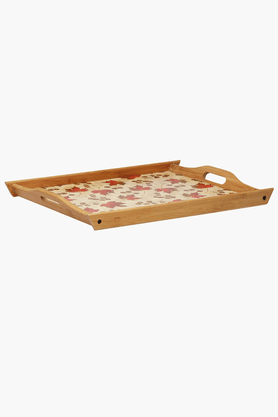 BACK TO EARTH Bamboo Tray With Print (Set Of 3)