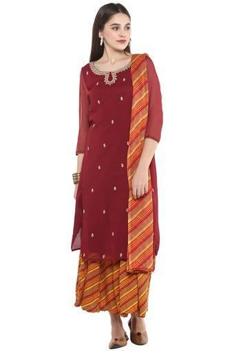 IMARA -  MaroonSalwar & Churidar Suits - Main