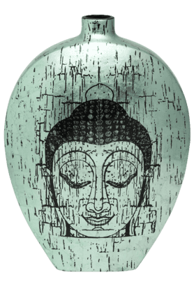 IVYAqua Buddha Ceramic Vase