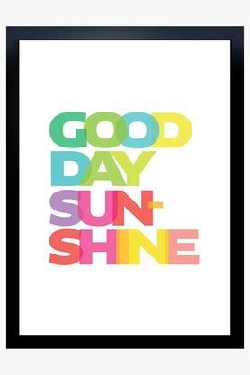 CRUDE AREA Multi Colour Good Day Sunshine Printed Paper Poster  ...