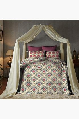 Cotton King XL Digital Printed Bedsheet With Pillow Cover - 202448889