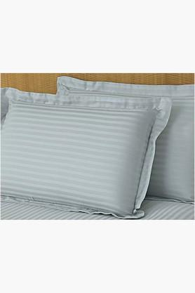 "ST CLOUD Sky Blue Solid Pillow Covers (Pillow Cover 18"" X 27"" (2 Pcs)"