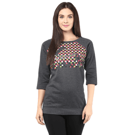 THE VANCA Women Terry Fleece Sweatshirt