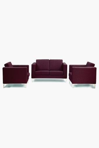 Cranberry Fabric Sofa (2-1-1 Sofa Set)