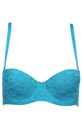 Womens Lace-embellished Padded Bra