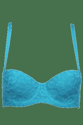 Womens Lace-embellished Padded Bra