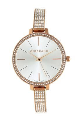Womens White Dial Analogue Watch - GD-2025-11