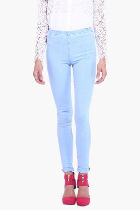Womens Mild Wash Jeggings