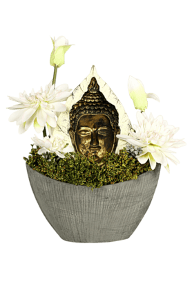 IVY Buddha Decor In Oval Planter