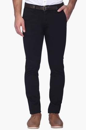 Mens Ultra Slim Fit 5 Pocket Solid Chinos - 202363018