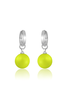 MAHI Neon Yellow Earrings - S (Made With Swarovski Elements)
