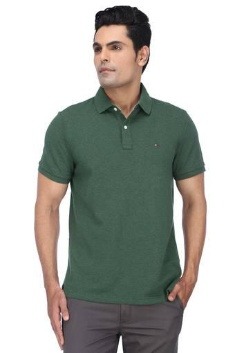 TOMMY HILFIGER -  Green T-shirts - Main